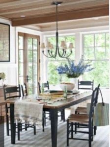 Rustic Vermont Dining Room, Featured in CountryLiving