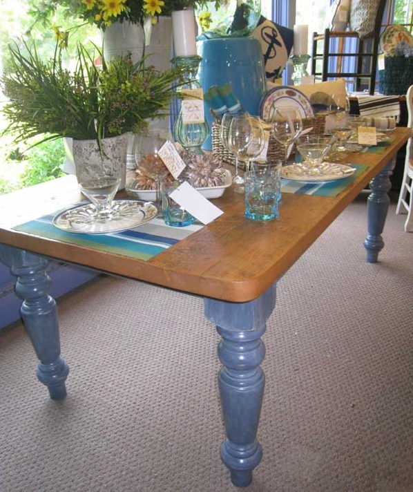 Ocean Blue Farm Table