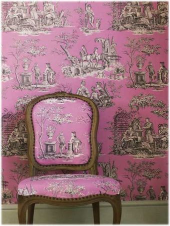 Bold use of pink and brown on Toile.