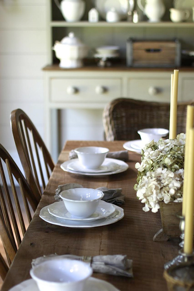 DIY-Farmhouse-Table-with-white-china