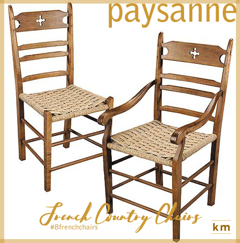 1) The French Country Paysanne U201cpeasant Or Rusticu201d Chair Was Found In  Country Cottages And Farmhouses Throughout Europe. Itu0027s Beloved For Its  Cottage Style ...